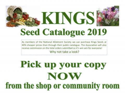 Kings Seed Catalogue 2019 poster