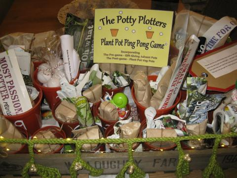 The Potty Plotters Plant-Pot Ping-Pong Present