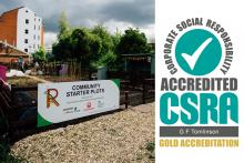 G F Tomlinson secures Gold CSR Accreditation